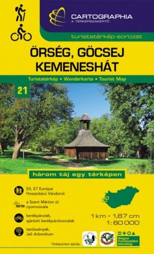 Őrség, Göcsej, Kemeneshát turistatérkép  1:60.000