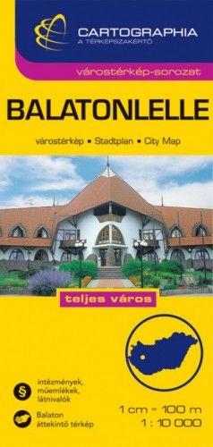 Balatonlelle Várostérkép 1:10 000