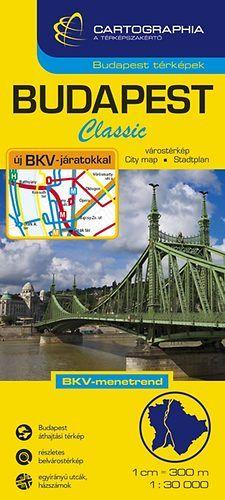 Budapest Classic Várostérkép 1:30 000