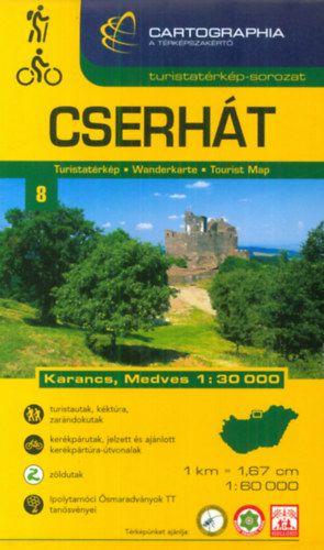 Cserhát +Karancs, Medves turistatérkép 1:60.000