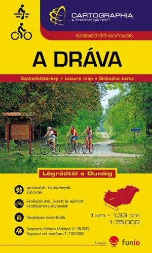 Dráva szabadidőtérkép 1:75 000