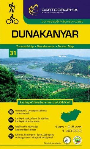 Dunakanyar turistatérkép1:40 000