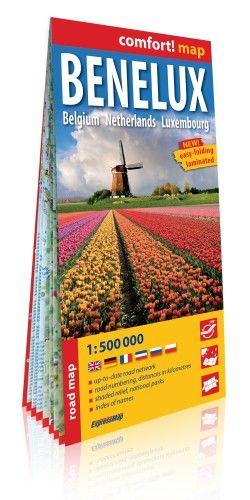 Benelux államok Comfort térkép 1:500000 (Expressmap) 2018 - Belgium, Hollandia, Luxemburg