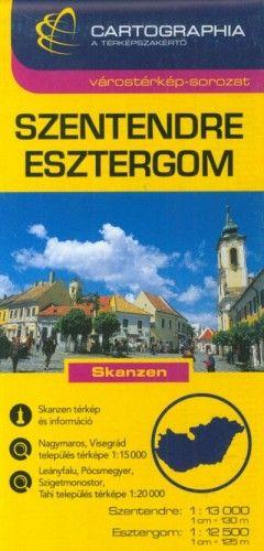Szentendre - Esztergom Várostérkép 1:13 000