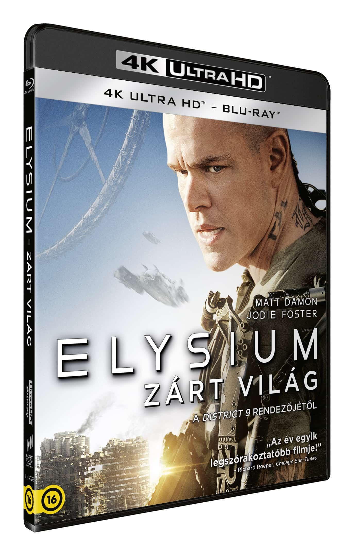 Elysium - Zárt világ (UHD+BD)