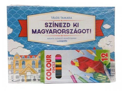 Tálos Tamara - Színezd ki Magyarországot! - ajándék ceruzával