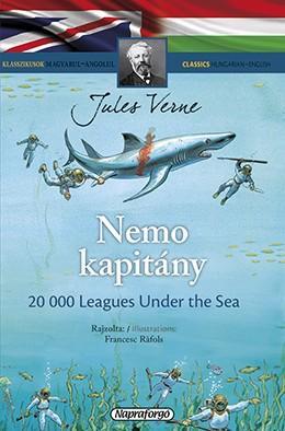 Jules Verne - Nemo kapitány - Klasszikusok magyarul-angolul