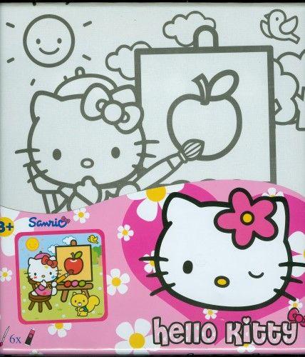 Hello Kitty - festővászon kerettel