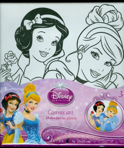Disney Hercegnők - festővászon kerettel