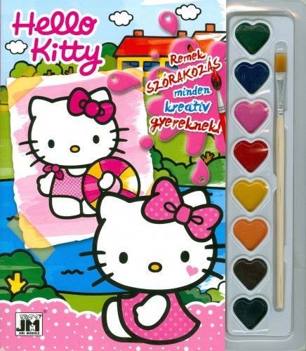 Hello Kitty - A5 kifestő festékkészlettel 2.