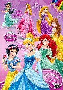 Disney - Disney Hercegnők - A4 színező