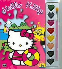 Jiri Models - Hello Kitty - A5 kifestő vízfesték készlettel