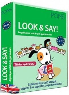 PONS Look & Say - Angol képes szókártyák gyerekeknek - A1-A2