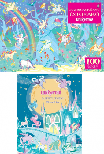 Fiona Watt - Unikornis - Matricás könyv és 100 darabos kirakó