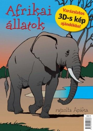 Apáka - Afrikai állatok - kifestőkönyv -