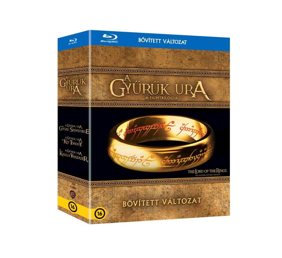 Peter Jackson - A Gyűrűk Ura trilógia (bővített változatok) - Blu-ray