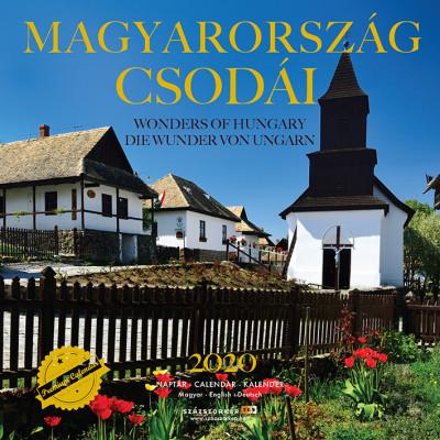 Magyarország csodái prémium naptár 2020 - 22x22 cm